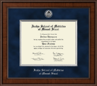 Icahn School of Medicine at Mount Sinai Diploma Frame - Presidential Silver Engraved Diploma Frame in Madison
