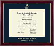 Icahn School of Medicine at Mount Sinai Diploma Frame - Gold Embossed Diploma Frame in Gallery