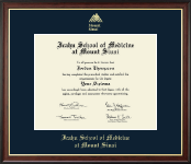 Icahn School of Medicine at Mount Sinai Diploma Frame - Gold Embossed Diploma Frame in Studio Gold