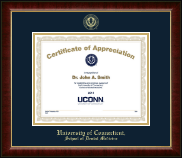 University of Connecticut School of Dental Medicine Certificate Frame - Gold Embossed Certificate Frame in Murano