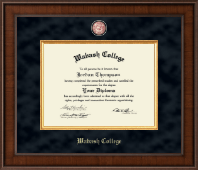 Wabash College Diploma Frame - Presidential Masterpiece Diploma Frame in Madison