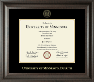 University of Minnesota Duluth Diploma Frame - Gold Embossed Diploma Frame in Acadia