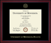 University of Minnesota Duluth Diploma Frame - Gold Embossed Achievement Edition Diploma Frame in Academy