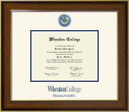 Wheaton College in Massachusetts Diploma Frame - Dimensions Diploma Frame in Westwood