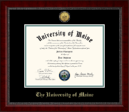 The University of Maine Orono Diploma Frame - Gold Engraved Medallion Diploma Frame in Sutton