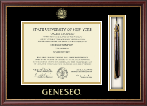 State University of New York Geneseo Diploma Frame - Tassel Edition Diploma Frame in Newport