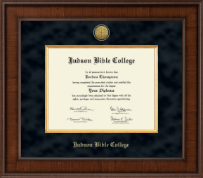 Judson Bible College Diploma Frame - Presidential Gold Engraved Diploma Frame in Madison