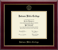 Judson Bible College Diploma Frame - Gold Embossed Diploma Frame in Gallery