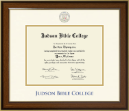 Judson Bible College Diploma Frame - Dimensions Diploma Frame in Westwood