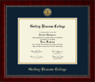 Goldey-Beacom College Diploma Frame - Gold Engraved Medallion Diploma Frame in Sutton
