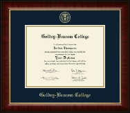 Goldey-Beacom College Diploma Frame - Gold Embossed Diploma Frame in Murano