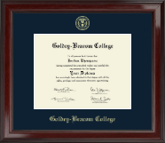 Goldey-Beacom College Diploma Frame - Gold Embossed Diploma Frame in Encore