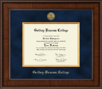 Goldey-Beacom College Diploma Frame - Presidential Gold Engraved Diploma Frame in Madison