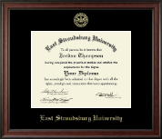 East Stroudsburg University Diploma Frame - Gold Embossed Diploma Frame in Studio