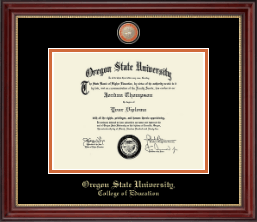 Oregon State University Diploma Frame - Masterpiece Medallion Diploma Frame in Kensington Gold
