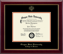 Oregon State University Diploma Frame - Gold Embossed Diploma Frame in Gallery