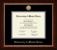 University of Mount Union Diploma Frame - Gold Engraved Medallion Diploma Frame in Murano