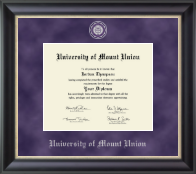 University of Mount Union Diploma Frame - Regal Edition Diploma Frame in Noir