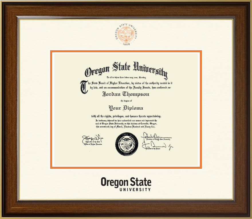 oregon state university dimensions diploma frame in