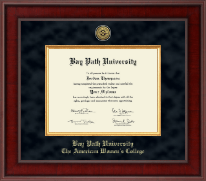 Bay Path University Diploma Frame - Presidential Gold Engraved Diploma Frame in Jefferson