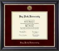 Bay Path University Diploma Frame - Gold Engraved Medallion Diploma Frame in Noir