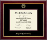 Bay Path University Diploma Frame - Gold Embossed Diploma Frame in Gallery