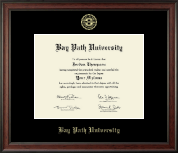 Bay Path University Diploma Frame - Gold Embossed Diploma Frame in Studio