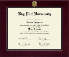Bay Path University Diploma Frame - Century Gold Engraved Diploma Frame in Cordova