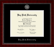 Bay Path University Diploma Frame - Silver Embossed Diploma Frame in Sutton