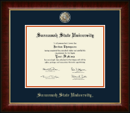 Savannah State University Diploma Frame - Masterpiece Medallion Diploma Frame in Murano