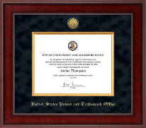 US Patent and Trademark Office Certificate Frame - Presidential Gold Engraved Certificate Frame in Jefferson