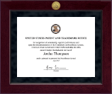 US Patent and Trademark Office Certificate Frame - Millennium Gold Engraved Certificate Frame in Cordova