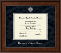 University of North Dakota Diploma Frame - Presidential Silver Engraved Diploma Frame in Madison