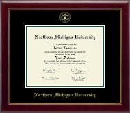 Northern Michigan University Diploma Frame - Gold Embossed Diploma Frame in Gallery