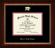 Masuk High School in Connecticut Diploma Frame - Gold Embossed Diploma Frame in Murano