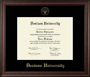 Denison University  Diploma Frame - Gold Embossed Diploma Frame in Studio