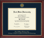 Kent State University Diploma Frame - Masterpiece Medallion Diploma Frame in Kensington Gold