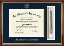St. Edward's University Diploma Frame - Tassel Edition Diploma Frame in Southport Gold