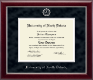 University of North Dakota Diploma Frame - Silver Embossed Diploma Frame in Gallery Silver