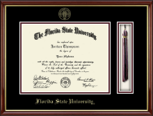 Florida State University Diploma Frame - Tassel Edition Diploma Frame in Southport Gold