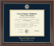 Howard University School of Law Diploma Frame - Masterpiece Medallion School of Divinity Diploma Frame in Chateau