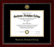 Gustavus Adolphus College Diploma Frame - Gold Engraved Medallion Diploma Frame in Sutton