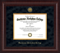 Gustavus Adolphus College Diploma Frame - Presidential Gold Engraved Diploma Frame in Premier