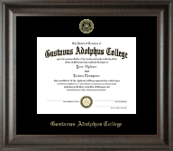 Gustavus Adolphus College Diploma Frame - Gold Embossed Diploma Frame in Acadia