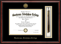 Gustavus Adolphus College Diploma Frame - Gold Engraved Tassel Edition Diploma Frame in Southport