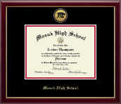 Masuk High School in Connecticut Diploma Frame - Gold Engraved Medallion Diploma Frame in Galleria