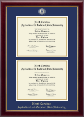 North Carolina A&T State University Diploma Frame - Masterpiece Medallion Double Diploma Frame in Gallery