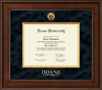 Doane University Diploma Frame - Presidential Gold Engraved Diploma Frame in Madison