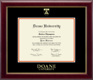 Doane University Diploma Frame - Gold Embossed Diploma Frame in Gallery