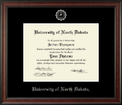 University of North Dakota Diploma Frame - Silver Embossed Diploma Frame in Studio
